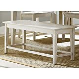 Bowery Hill Dining Bench in Rubbed Linen White
