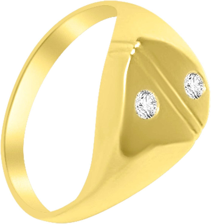 Anillo hombre oro anillo hombre meñique de oro 18 kt 750 con diamante 0,08 ct - mejor precio. Anillo para hombre de diamante
