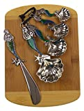 Mermaid Cheese Spreader & Measuring Spoons Bundled with Bamboo Cheese Board