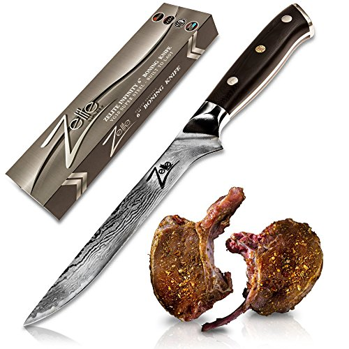 ZELITE INFINITY Boning Knife 6 inch - Best Quality Japanese VG10 Super Steel 67 Layer High Carbon Stainless Steel - Razor Sharp Superb Edge Retention, Stain & Corrosion Resistant! Full Tang Ideal Gift