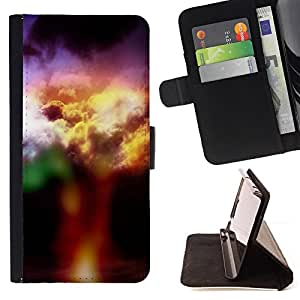 DEVIL CASE - FOR Apple Iphone 6 PLUS 5.5 - Colorful clouds - Style PU Leather Case Wallet Flip Stand Flap Closure Cover