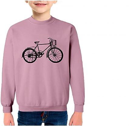 Bicicleta Retro Sudadera Infantil algodón - Talla 14, Verde ...