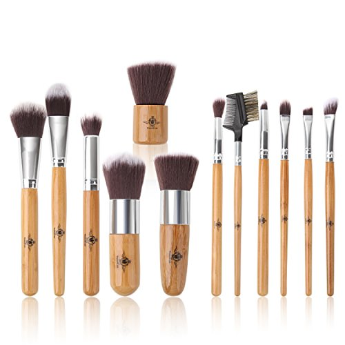 Wonderful Life 12 Pieces Professional Makeup Brush Set Bambo