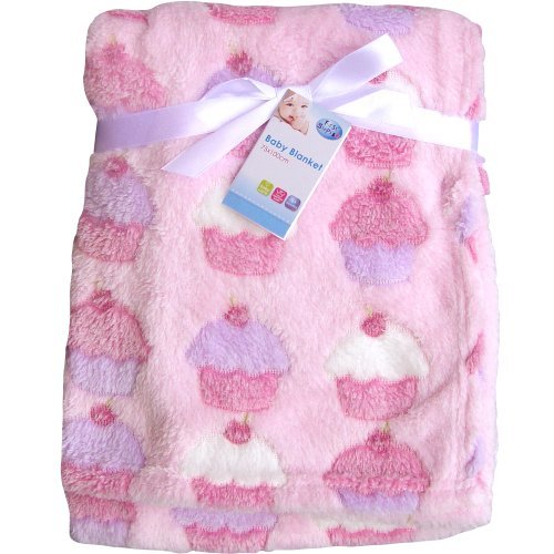 Pink Cupcakes Super Soft /& Fluffy Large Patterned Baby Blanket