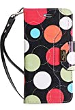 #3: iPhone 8 Plus / 7 Plus Wallet Case, ProCase Flip Fold Card Case Stylish Slim Stand Cover with Wallet Case for Apple iPhone 8 Plus / iPhone 7 Plus -Circles