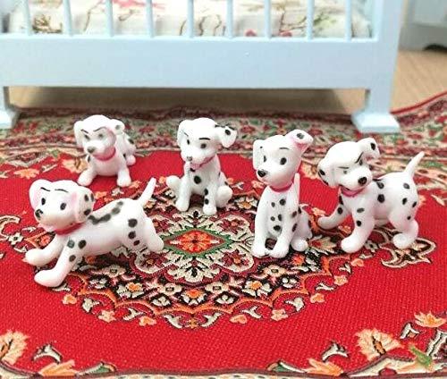 Agordo 1:12 Dollhouse Miniature Random Cute Dog for Home Garden Scene Landscape X1 A