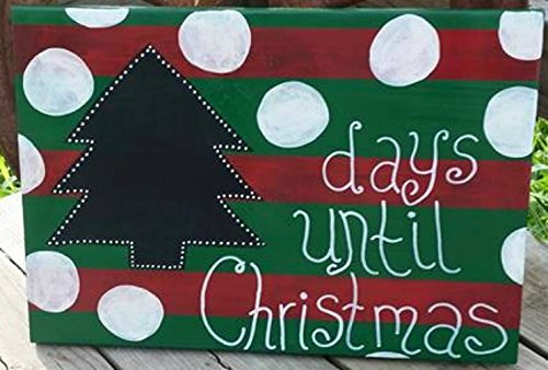 christmas countdown sign christmas chalkboard countdown sign hand painted wooden sign holiday wall