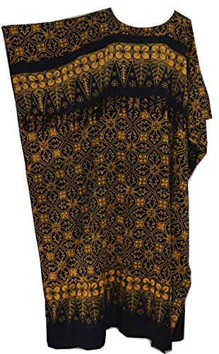 Cool Kaftans BN MADURA Black Batik Kaftan Caftan One Size Cool Kaftans (Black Batik)
