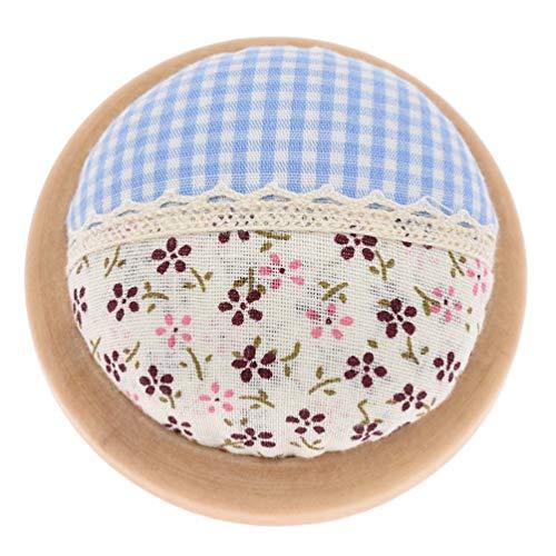 Viviseason (ビビシーズン) ピンクッション 針山 針刺し 丸型 カラフル 木製ベース 可愛い 刺繍 クロスステッチ 縫製ツール