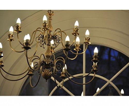 Ledon led kerzenlampe w ersatz für w glühbirnen matt