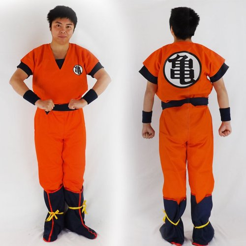 Dragon Ball Kai Goku's Kamesenryu Training Uniform LARGE SIZE [JAPAN] (Goku Costume Adult)