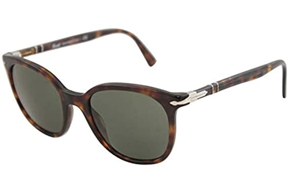 65f0738cef8ea Amazon.com  Persol Unisex 0PO3216S Black Green One Size  Persol ...
