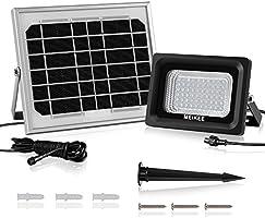 MK Projecteur Solaire Rechargeable 60 LEDs Étanche IP66, 6000K 300LM Lampe solaire de sécurité parfait pour patios, balcons, terrasses, garages, jardins, couloir, etc