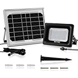 MEIKEE Solar Lights Outdoor Flood Lights Security Lights, 300 Lumen, IP66 Waterproof, 6000K Daylight White, Auto-Induction Solar Flood Lights for Lawn, Garden, Pool
