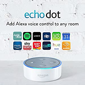 Amazon Echo Dot (2nd Gen) – Smart Speaker with Alexa – White