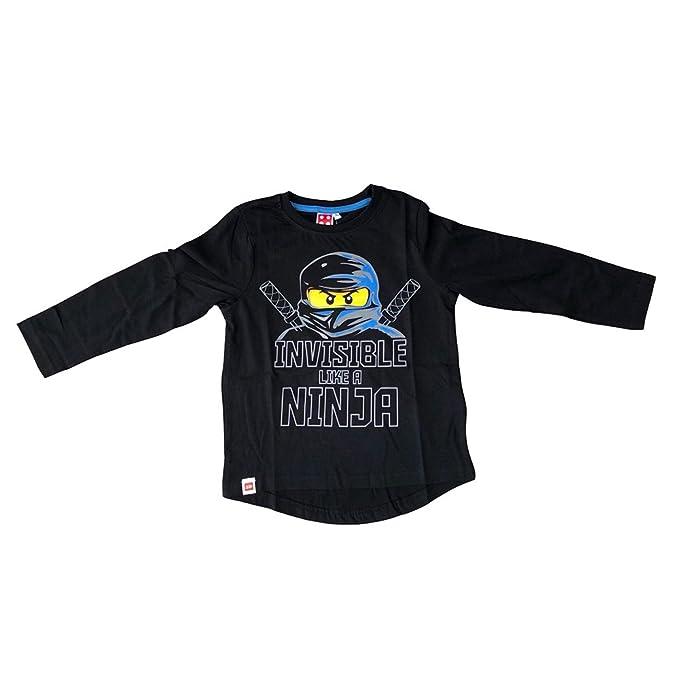 LEGO Ninjago - Camiseta de Manga Larga - para niño Negro 6 Años ...