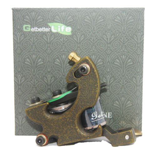 Getbetterlife® Pro Starter Iron Brass Tattoo Machine Guns shader 12 Wraps Coil Supply (Tattoo Coils 12 Wrap compare prices)
