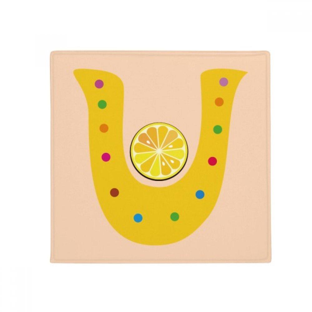 DIYthinker U Alphabet orange Fruit Cute Pattern Anti-Slip Floor Pet Mat Square Home Kitchen Door 80Cm Gift