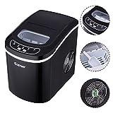 Black Portable Compact Electric Ice Maker Machine Mini Cube 26lb/Day
