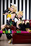 Mzcurse Vocaloid Kagamine Magnet Golden Rin and Len Cosplay Wig Party Hair