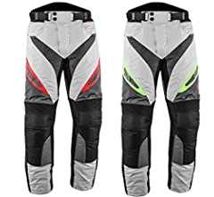 JET Mens Motorcycle Motorbike Textile CE Armoured Waterproof Trousers Pants Protective Premium Touring Grey, W48 L34