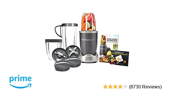 ea6f73913 Amazon.com: NutriBullet NBR-1201 12-Piece High-Speed Blender/Mixer System,  Gray (600 Watts): Electric Countertop Blenders: Kitchen & Dining