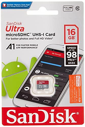 SanDisk 16  GB Ultra MicroSDHC Memory Card  SDSQUAR 016G GN6MN