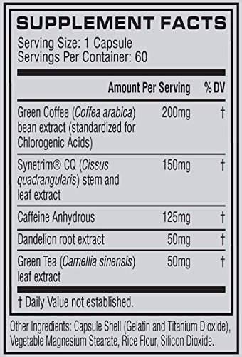 Cellucor SuperHD Ultra Thermogenic Fat Burner for Men & Women, Weight Loss Supplement with Green Coffee Bean & Leaf Extract, Metabolism & Energy Booster, 60 Capsules by Cellucor (Image #3)