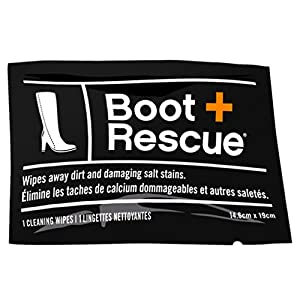 BootRescue All-Natural Cleaning Wipes for Leather and Suede Shoes & Boots. Shoe Cleaning Wipe Removes Dirt, Salt Stains and Mud. (Box of 10 Individually Wrapped Wipes)