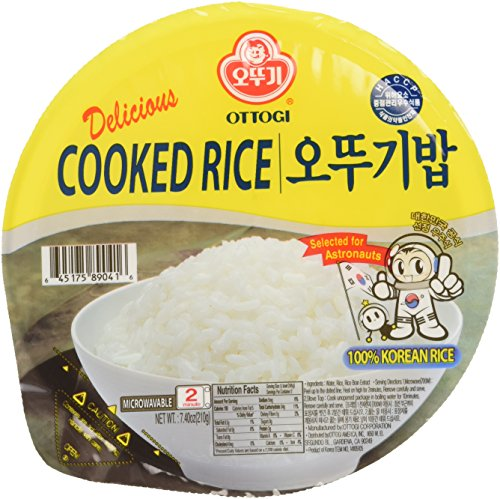 Ottogi Fresh Cooked White Rice, 7.40 oz, 12 Count