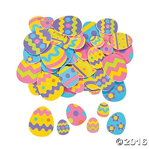 500 Colorful EASTER EGG FOAM STICKER Shapes/ARTS & Crafts/SCRAPBOOKING Supplies/SELF ADHESIVE/HOLIDAY (Scrapbooking Activity)