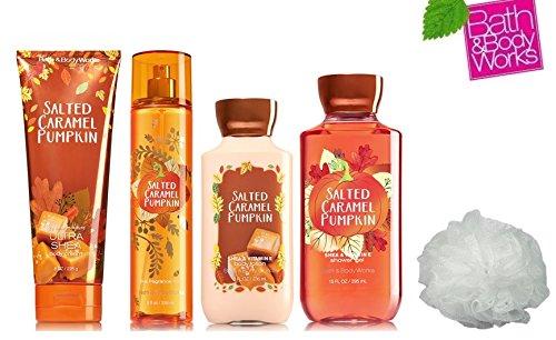 bath u0026 body works salted caramel pumpkin deluxe gift set lotion cream fragrance mist