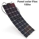 Placa Solar Flexible 150w Monocrystalline 12v Panel Solar Flex 150w Ideal para Autocaravana,Caravana y Barco