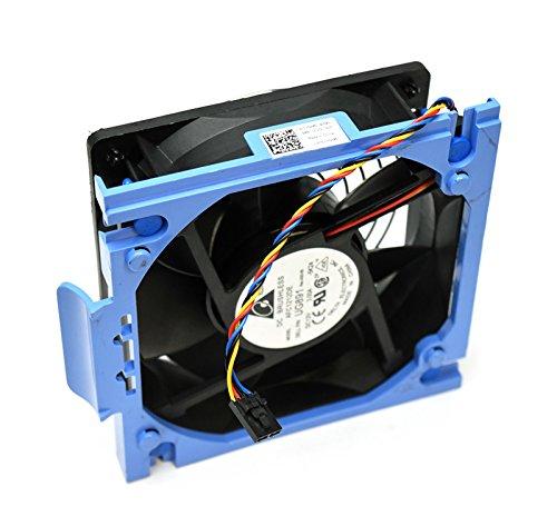 YN845 Genuine Dell PowerEdge T300 PE-T300 120x38 12V Rear Fan Assembly PWM Case Fan w/4-Pin 4-Wire Cable UG891 Blue Shroud Bracket Plastic Module