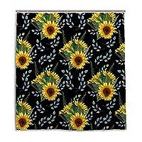 GUYUEXING Shower Curtain Set Waterproof Bathroom Decoration Sunflower