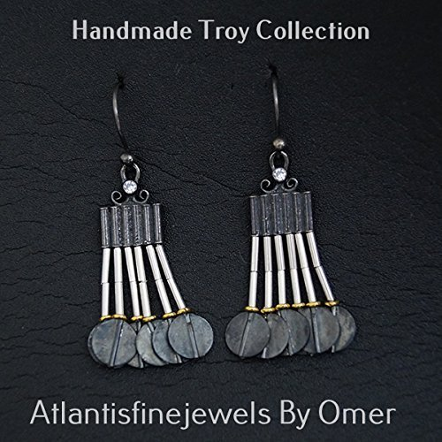 Multiple Strand 2 Tone Sterling Silver Ancient Turkish Troy Earrings By - Tone Earrings Strand Two