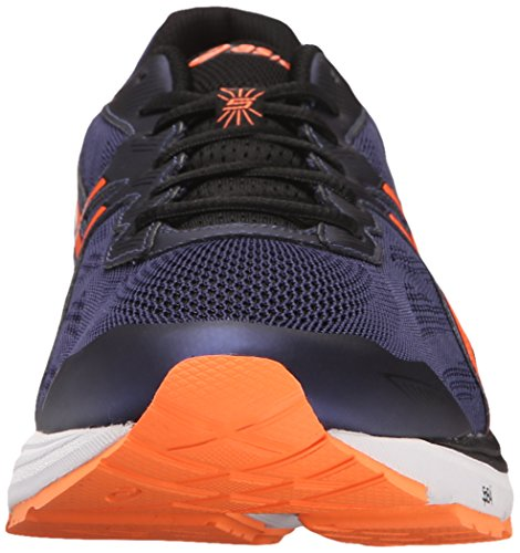Asics Mens Gt-1000 5 Hardloopschoen Indigo Blauw / Oranje / Zwart