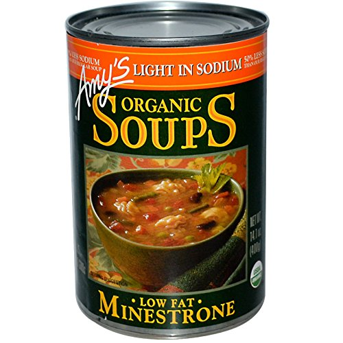 - Amy's, Organic Soups, Low Fat Minestrone, Light in Sodium, 14.1 oz (400 g)(Pack of 3)
