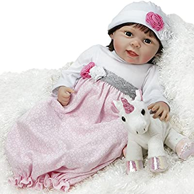 Paradise Galleries Baby Doll that Looks Real and Lifelike, Baby Emma, 21 inch GentleTouch Vinyl, Weighted Body