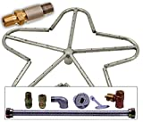 Spotix HPC Match Lit Fire Pit Burner Kit, Penta, 18-Inch Burner, Propane, Polished Chrome