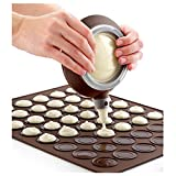 Macaron Macaroon Baking Set 30/48 Capacity Baking Sheet+Decorating Pot+Nozzles by Einfachheit (30 Capacity)