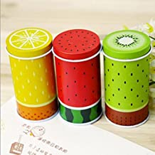 Fresh Fruit Cylinder Mini Storage Tea Box Coffee Tin