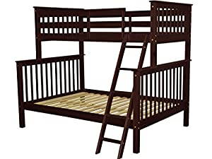 Bedz King Bunk Bed Twin Over Full Mission Style
