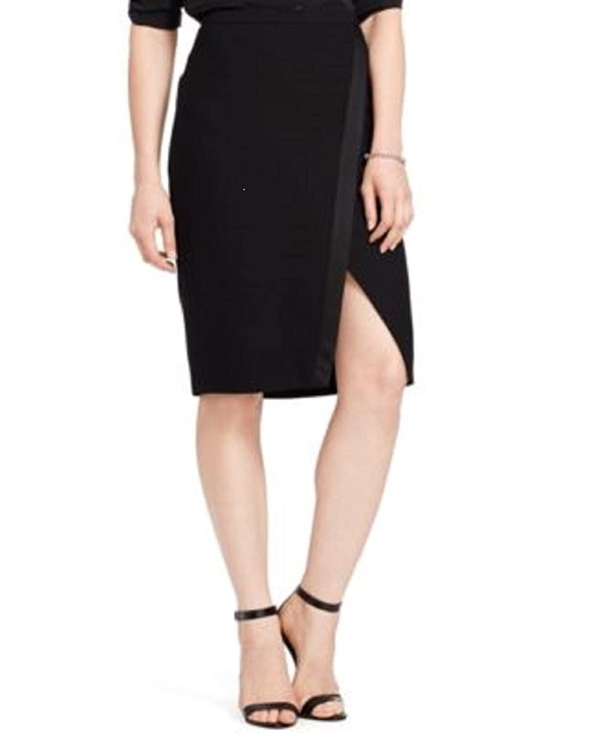 Lauren Ralph Lauren Womens Petites Lined Crepe Straight Skirt