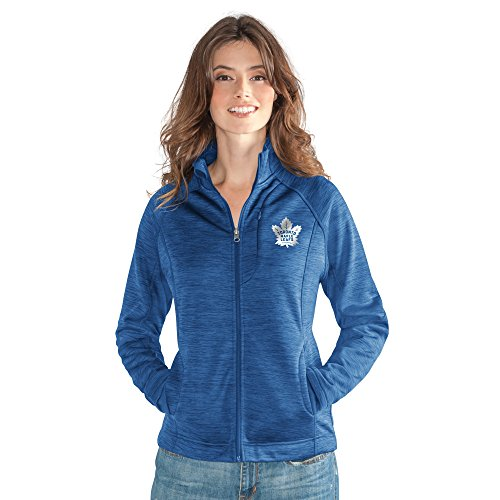 GIII For Her NHL Toronto Maple Leafs Women's Hand Off Full Zip Jacket, Large, Royal