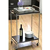 Product review for Chrome Plated Stainless Steel Rolling Service Cart, Hotel Grade 2 Tier Kitchen Food Server w/ Handle