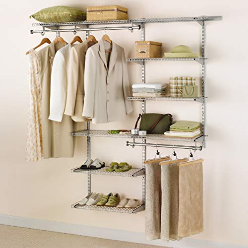 Rubbermaid Configurations Closet Kits, 3-6 Ft., Deluxe, White (FG3H8800WHT) (4' White Track)