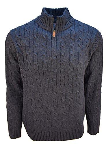 Vineyard Vines Mens Cotton Cashmere Cable Quarter Zip Sweater (S, Nautical Navy) ()