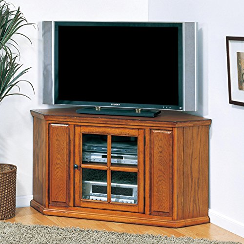 Media Stand Entertainment Credenza, Multifunctional Furniture, Adjustable Shelves, Center Storage Glass Door, Durable And Versatile, Suitable For Living Room, Bedroom, Family Room + Expert Guide - Medium Oak Credenzas