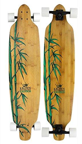 - Krown Krex 2 Bamboo Freestyle Complete Longboard, 9.25x41-Inch